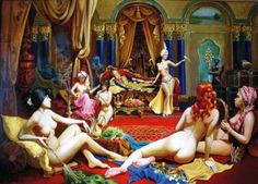 In the Harem, a spetacular night of pleasure and love - Illustration by Vera Donskaya