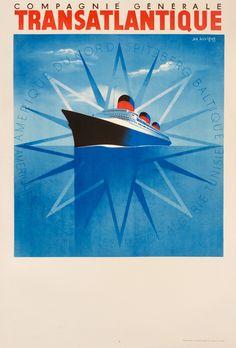 Transatlantique/Normandie  - Compagnie Generale by Auvigne, Jan, 1937