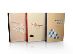 RACHEL - This series of book covers has a simple design with an abstract image on the cover and a coloured spine that is evident across the series that act like visual metaphors for the books.