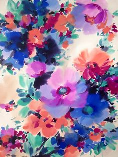floral watercolor. (artist anyone?)