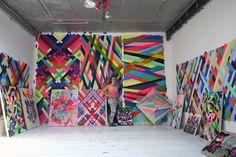 Wow paintings! inspired.   Maya Hayuk.