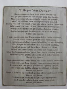 I Hope You Dance Lyrics from Lee Ann Womack's by ExpressionsNmore, $59.95