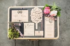 Hugo Inspired Photo Shoot from Kasal NY + Jadore Love via Style Me Pretty / Suitcase from Patina Vintage Rentals Wood Invitation, Invitation Design, Invitation Suite, Invite, Invitation Ideas, Wedding Ideas To Make, Our Wedding, Wedding Shoot, Wedding Stationary