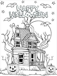 Coloring Pages For Grown Ups, Adult Coloring Book Pages, Disney Coloring Pages, Printable Coloring Pages, Pumpkin Coloring Pages, Fall Coloring Pages, Coloring Books, Colouring Sheets, Cute Halloween Coloring Pages