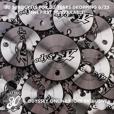 Sneak Peek: Odyssey – 30th Anniversary Retro Sprocket  http://bmxunion.com/daily/sneak-peek-odyssey-30th-anniversary-retro-sprocket/  #BMX #Odyssey #bike