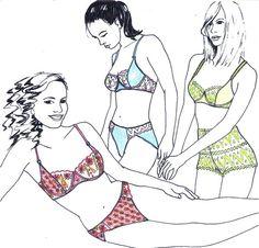Sewing pattern MIX30 with Bra Pantie & French by merckwaerdigh, €11.50