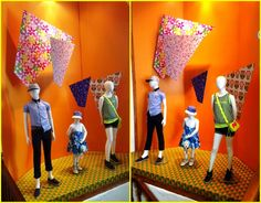 A Story in Print - Kids Window Display.  Mix N Match collection (Mix of prints, colors, fabrics)