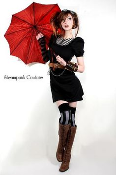 http://www.trendzystreet.com/clothing/dresses  - I don't know that I would call this steampunk, but definitely Victorian! Cute! Cute!