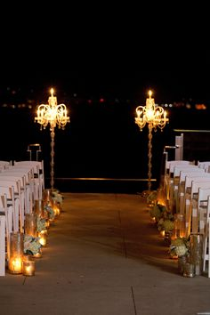 Cecelia and Michael's wedding ceremony on the Riverside Terrace. Design by Pure Luxe Bride. Photography by Reese Moore.
