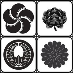 Japanese Family Crests:  The (bilingual) Crest Japan site has more than 280 kamon available copyright free for download as .eps files.
