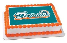 Miami Dolphins Edible Cake Topper and Cupcake Topper – Edible Prints On Cake (EPoC)
