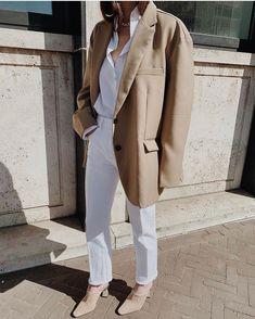 The Frankie Shop Desert Taupe Oversized Blazer , Sophie H Odense Shirt , Redone High Rise Stove Pipe Jeans , Jonak Mules Vincenzo De Cotiis, Danish Fashion, Scandinavian Fashion, Swedish Style, Minimal Fashion, Minimal Style, Minimal Classic, Office Outfits, Fashion Killa
