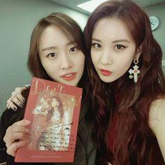 Nicole (Former KARA Member) with SNSD's Seohyun