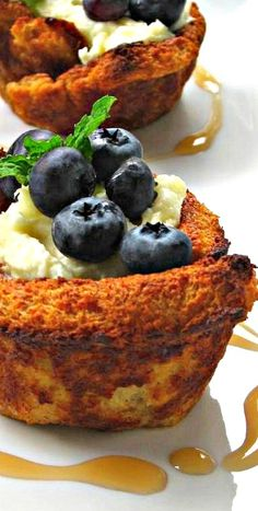 Blueberry Stuffed French Toast Bowls