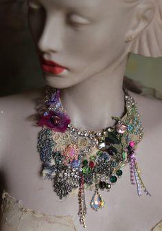 Collar Vintage bouquet II audaz y delicado shabby por FleursBoheme