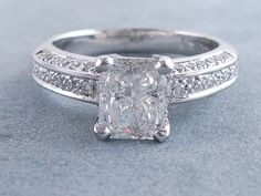 2.00 ctw Radiant Cut Diamond Engagement Ring G SI2. For sale for $5,990 on our website www.bigdiamondsusa.com or call us at 1-877-795-1101 for more information.