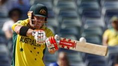 Smashing performance: David Warner launches another ball to the fence on his way to 178.