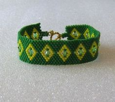 Tribal Design Beaded Cuff Bracelet With from blujay.com
