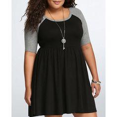 baseball tee dress| $9.57  plus size fashion plus size clothing grunge hipster pastel grunge fachin dress top under10 under20 under30 plus rosewholesale