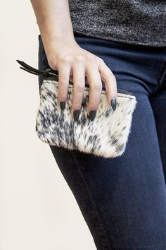 The Salt + Pepper Cowhide Coin by Prime Cut is adorable! Carry it alone, or use it as an extra organizer in your current bag. mooreaseal.com