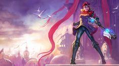 Download Lux Imperial Skin Splash Art League of Legends Girl 1366x768