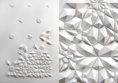 Paper engineer Matt Shlian produced his latest series of paper pieces replete with intricate geometric patterns Origami Paper Art, Paper Crafting, Matt Shlian, Paper Engineering, Paper Folding, Geometric Art, Geometric Fashion, Art Plastique, Textures Patterns