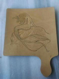Leather carving mermaid / deniz kızı