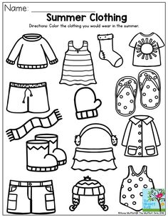 Summer Coloring Sheets for Preschoolers - Summer Coloring Sheets for Preschoolers , Preschool Summer Coloring Pages Coloring Home Seasons Worksheets, Summer Worksheets, Weather Worksheets, Kindergarten Worksheets, Worksheets For Kids, Math Literacy, Summer Preschool Activities, Preschool Weather, Sorting Activities