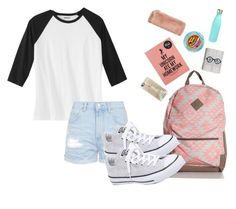 """""""Back 2 school!"""" by fashionfever777 ❤ liked on Polyvore featuring Topshop, Converse, Casetify and S'well"""