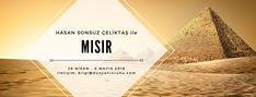derKi Genel Yayın Yönetmeni Hasan Sonsuz Çeliktaş'ın rehberliğinde Kadim Mısır'a ruhani bir yolculuk.  Yolculuğun programı ve detayları aşağıdadır.  Katılmak için bilgi@dunyaninruhu.com adresine mail atabilirsiniz.   Mısır Yolculuğu Programı ve Detayları  Gidiş: 28 Nisan 2018 Cumartesi Dönüş: 6 Mayıs 2017 Pazar (9 Gün)  Yolculuk Bedeli: Bilgi için lütfen bilgi@dunyaninruhu.