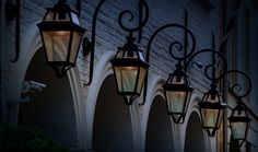 lamps shot at night time