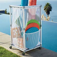 1000 images about pool float storage ideas on for Swimming pool storage ideas