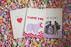 Love these adorable cards for your Valentine from Smock.