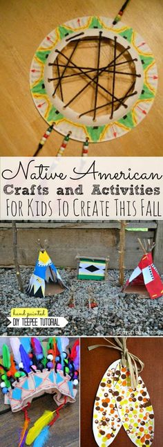 Native American Crafts and Activities for Kids - Simply Today LIfe These Native American Crafts and Activities for Kids are perfect for November. Kids can create fun Native American crafts to learn. Native American Projects, American Indian Crafts, Native American Games, Native American Lessons, Thanksgiving Crafts For Toddlers, Fall Crafts, Thanksgiving Art, Toddler Crafts, Preschool Crafts