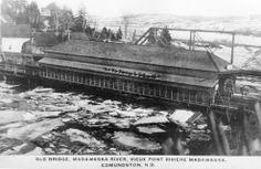 Vieux pont couvert de la rivière Madawaska. Avant le pont Boucher