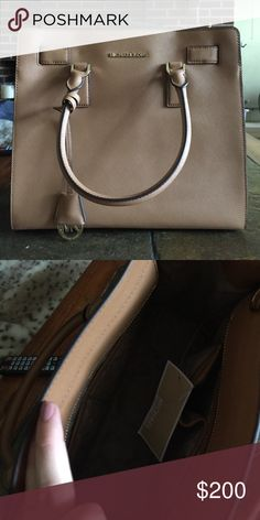 "NWT large Dillon Saffiano satchel Brand new! 13"" W X 11""H X 5""D, comes with a shoulder strap. I just got this but realized my laptop for school barely fits! Got this at the annual sale and the price just went back up! Michael Kors Bags Satchels"