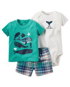 Conjunto Body, Shorts e Camiseta Carter' - Piccola Fragola