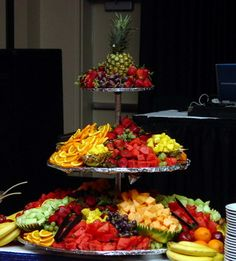 Fruit buffet for when summer weddings need a sweet touch!