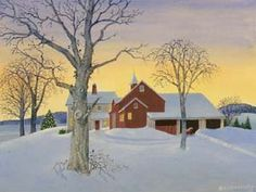 Snowy Sunset ~ by Charlotte Joan Sternberg