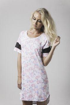 leesa mesh trim nightie in summer garden print available now @ marceau.com.au Summer Garden, Pyjamas, Summer 2015, Shirt Dress, T Shirt, Short Sleeve Dresses, Lady, Mesh, Range