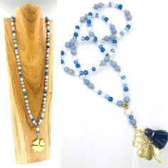 Collection Cristal::creation-aum Agate, Jade et cristal Tassel Necklace, Agate, Creations, Collection, Jewelry, Blue, Jewlery, Bijoux, Schmuck