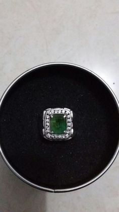 Ring Silver + natural emerald