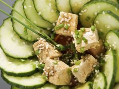 Sesame, Cucumber and Tofu Salad