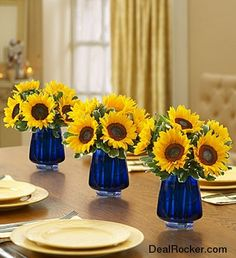 sunflower centerpieces | Sunflower Centerpiece