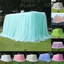 Tulle Table Skirt,Multi Colors Ruffle Table Cloth,Baby Shower Wedding or Birthday Party Decoration - Walmart.com - Walmart.com Tulle Table Skirt, Tutu Table, Tulle Tablecloth, Table Skirts, Baby Shower Fun, Shower Party, Baby Shower Parties, Shower Favors, Bridal Shower