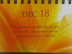 See the opportunity in every difficulty