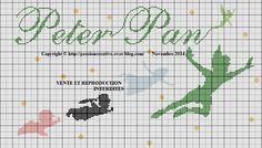 Grille gratuite point de croix : Peter Pan et ses amis - Le blog de Isabelle