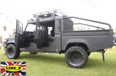 Check out 'Blackline' a #LandRover #Defender 130 fully coated in hard wearing LINE-X. This cutomised Land Rover was created by LINE-X Thetford http://linexthetford.co.uk