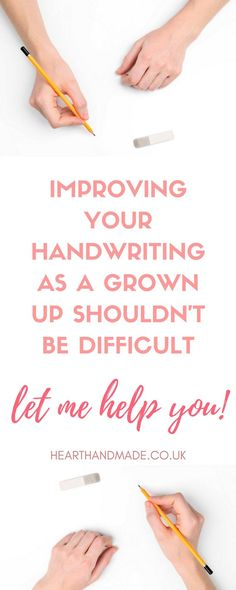 Seriously, improving your handwriting as an adult should not be difficult! Let me help you! With free printable handwriting practice sheets to get you started