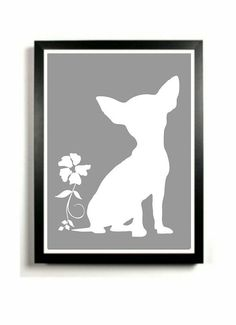 Chihuahua+Art+Print++Dog+artwork+Chihuahua+by+DIGIArtPrints,+$15.00: